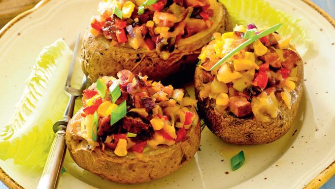 Ziemniaki Faszerowane Grzybami Obiad Polkipl