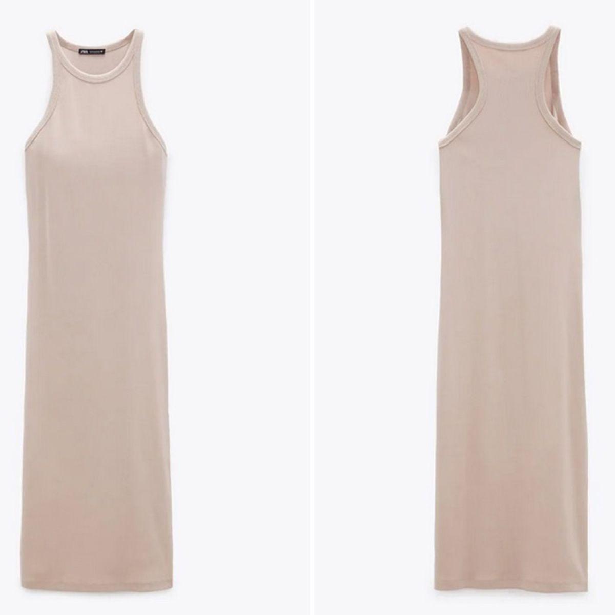 sukienka w kolorze nude z Zary