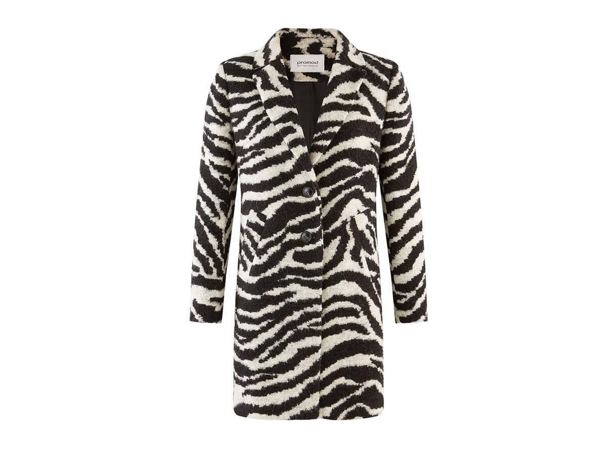Płaszcz w zwierzęcy wzór, Promod, cena ok. 199,50 zł (z 399,00 zł)