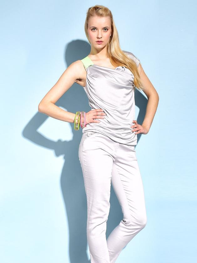 srebrny top Monnari - moda na lato