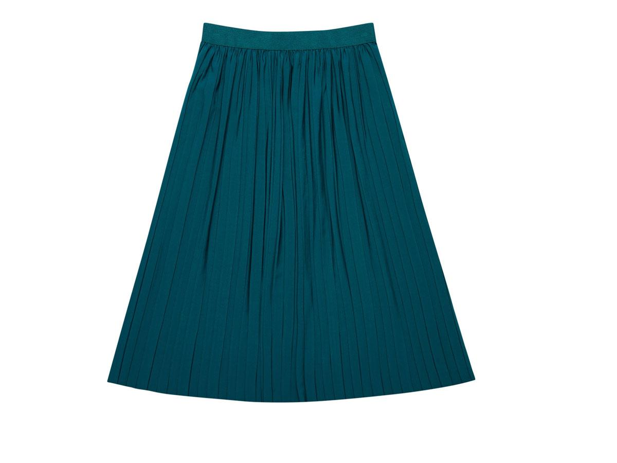 Zielona spódnica rozkloszowana Moodo