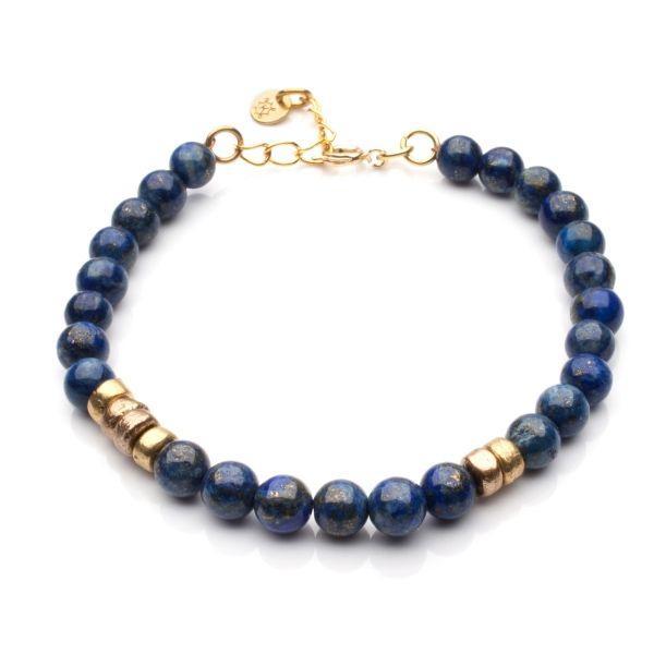 niebieska bransoletka z zapinką