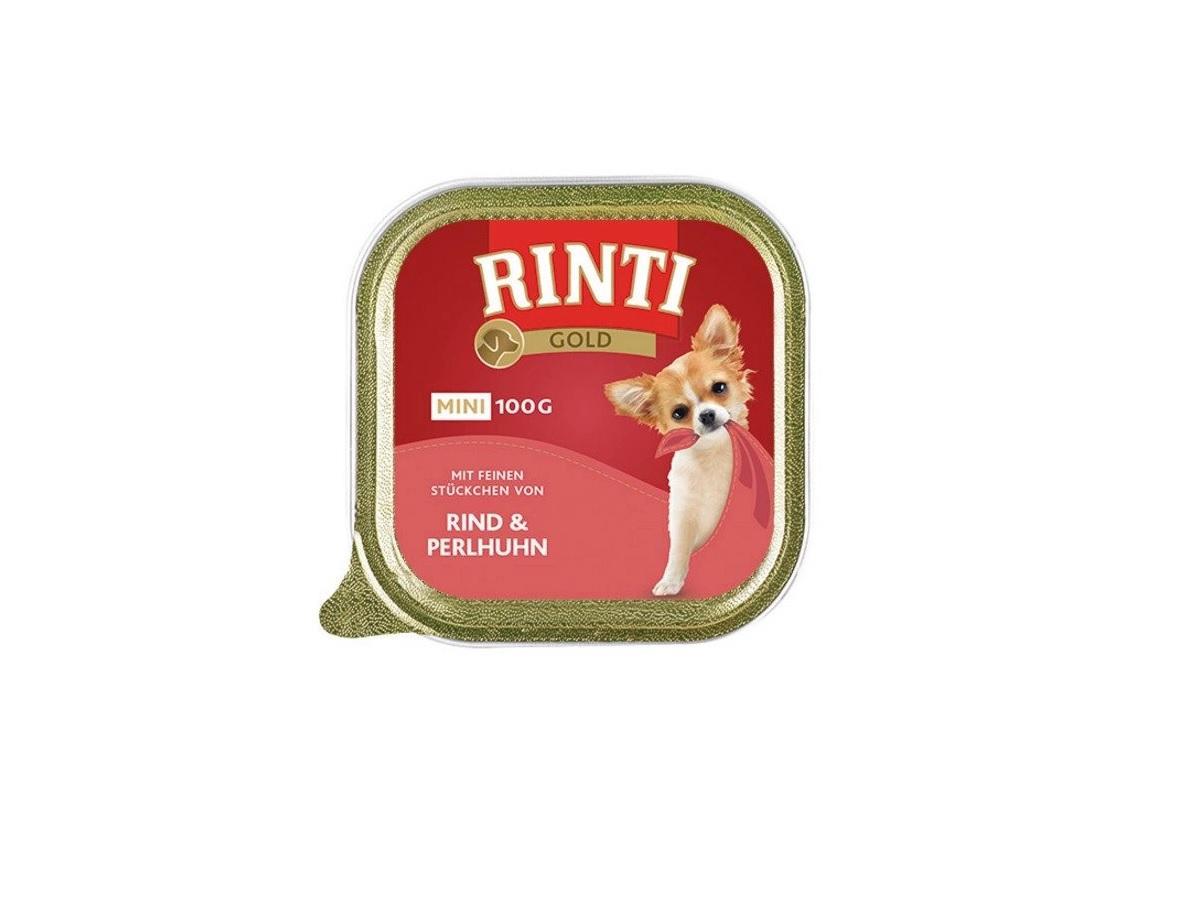 Mokra karma dla psa Rinti Mini Gold z perliczką