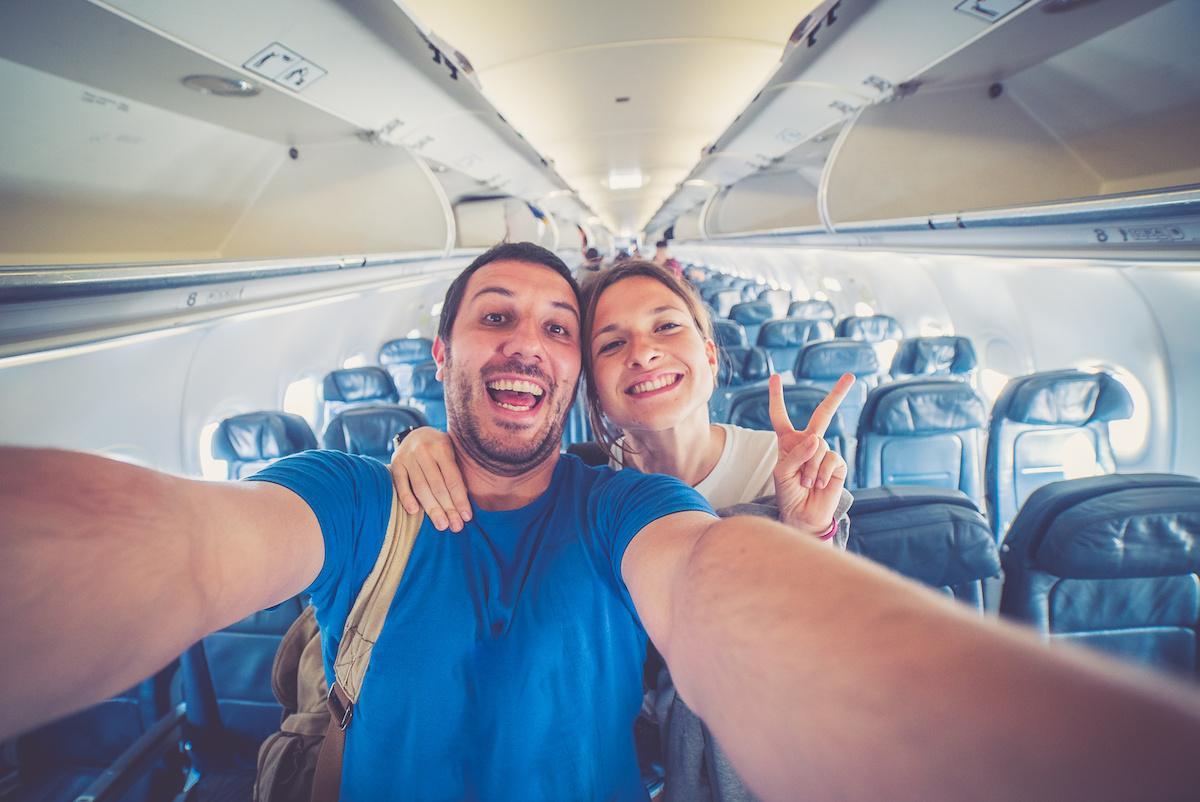 para w samolocie