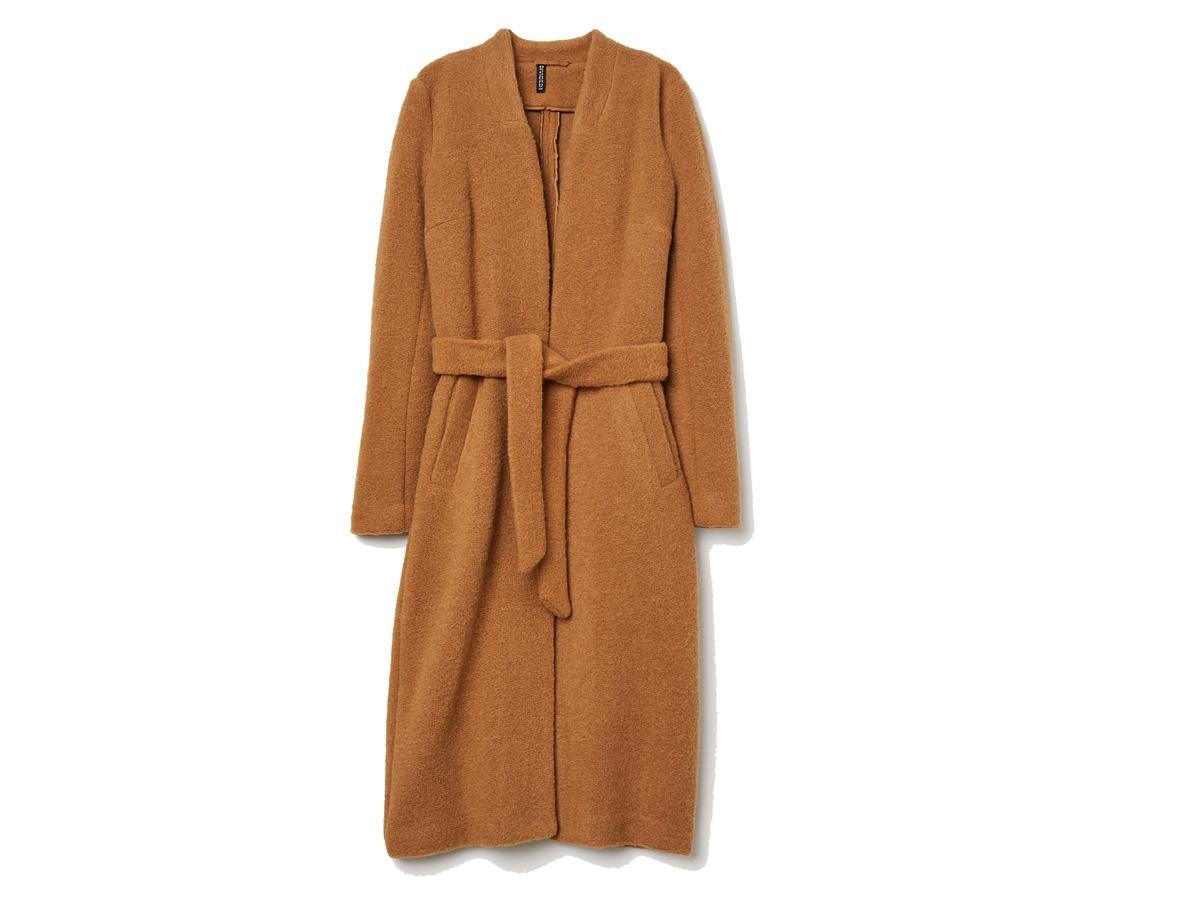 Płaszcz z domieszką wełny H&M, cena