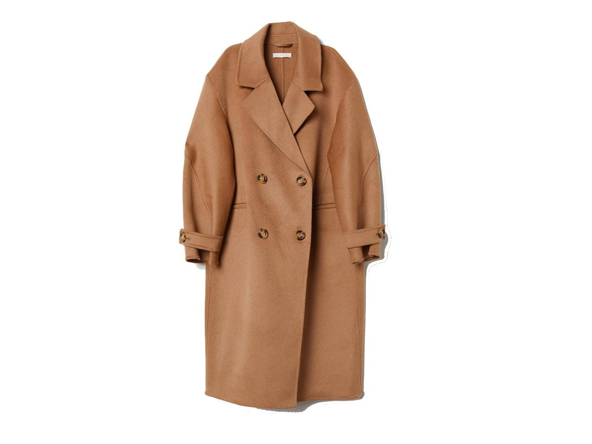 Płaszcz z domieszką kaszmiru H&M, cena