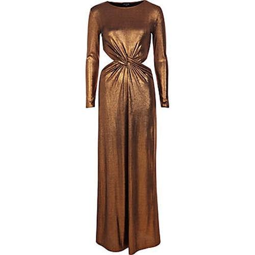 Długa błyszcząca sukienka River Island, ok. 199zł