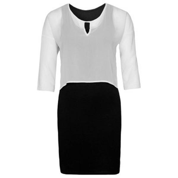 Biało-czarna sukienka Vero Moda