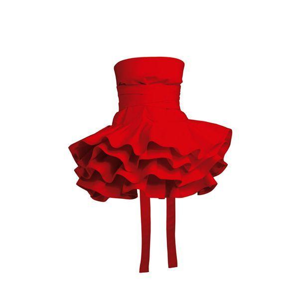 Czerwone dodatki na Walentynki: fartuszek, fabrykaform.pl - cena