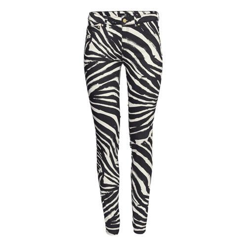 H&M, spodnie w zebrowy wzór