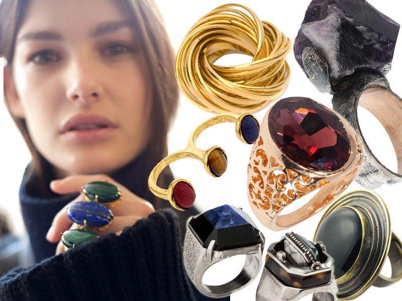20 modnych pierścionków maxi z jesiennych kolekcji