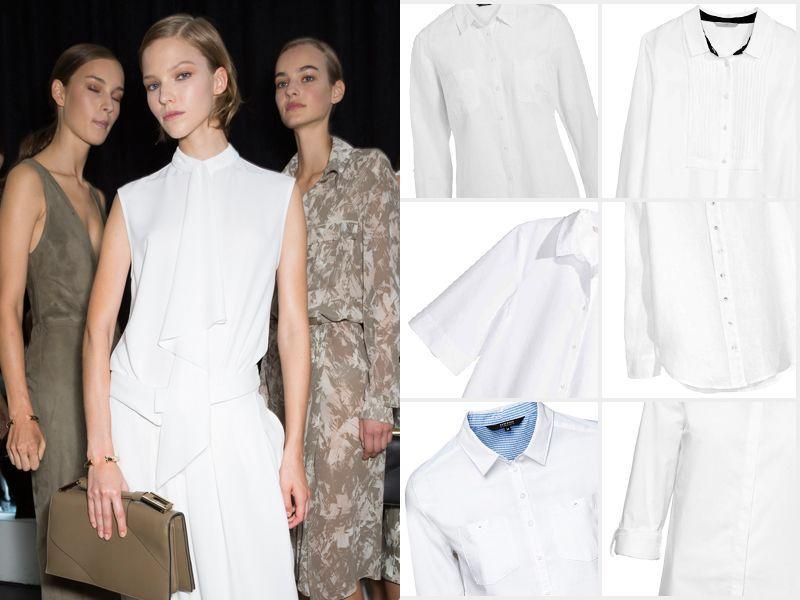21 klasycznych białych koszul na wiosnę 2015