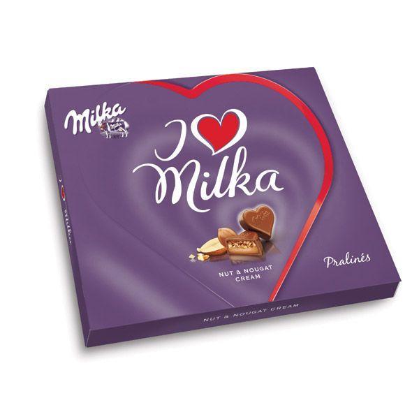 Słodkie prezenty na Walentynki: czekoladki I Love, Milka