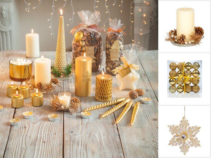 złote dodatki na święta, złote gadżety na boże narodzenie, gwiazdkowe dodatki w kolorze złota