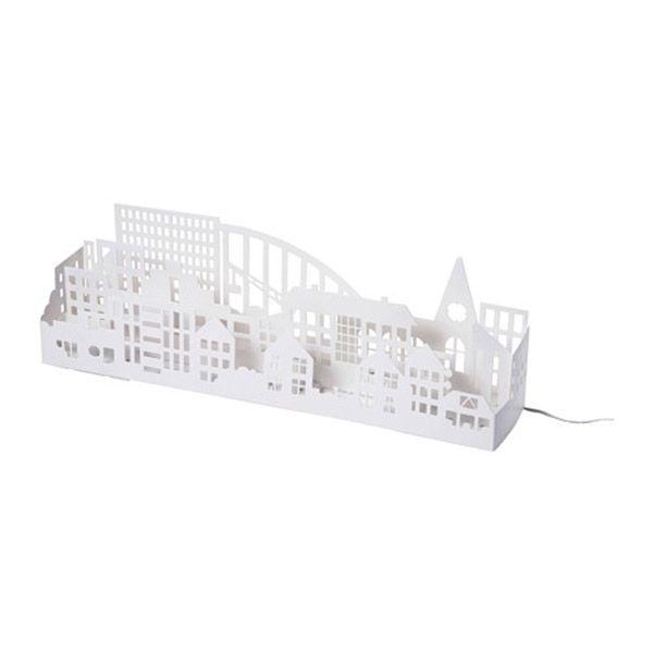 Białe Dodatki świąteczne Oświetlenie Ledowe Ikea Cena
