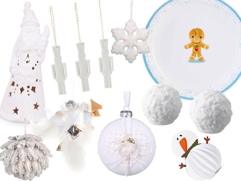 Białe dodatki świąteczne