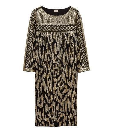 Złota sukienka H&M