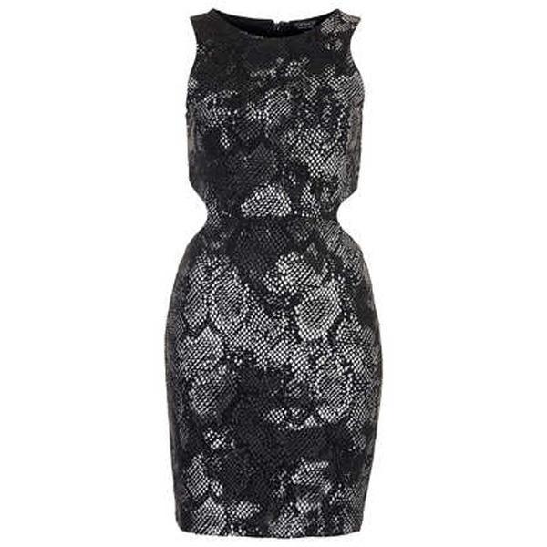 Wężowa sukienka Topshop