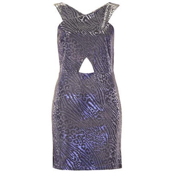 Metaliczna sukienka Topshop