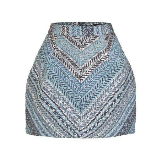 Spódnica mini, błękitna, Jemioł