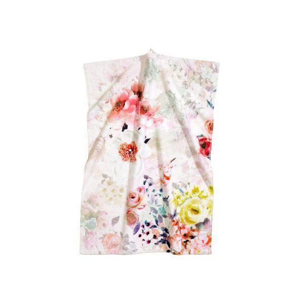 Dodatki do domu z kwiatowym motywem: ręcznik, H&M Home - cena