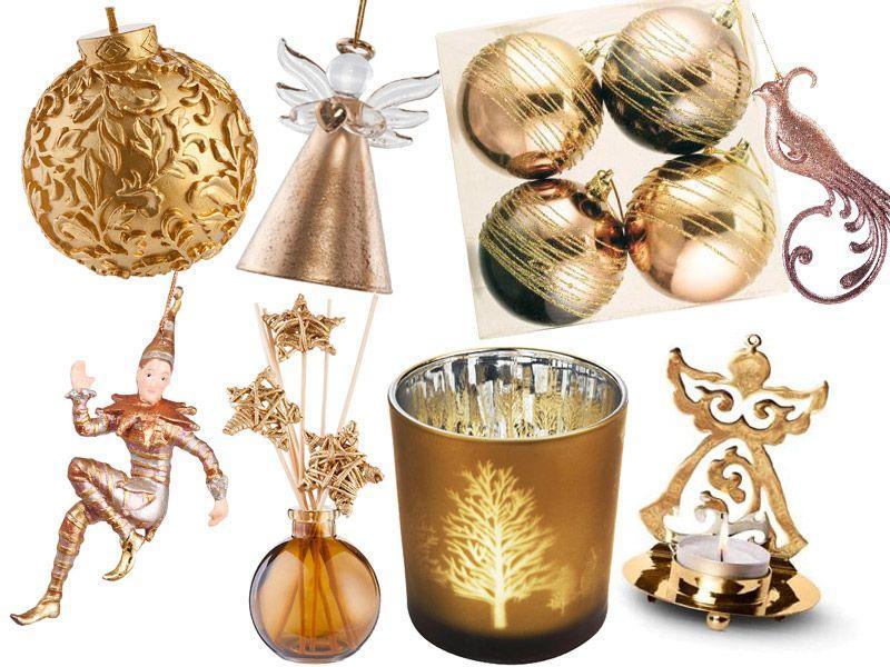 Złote dodatki świąteczne