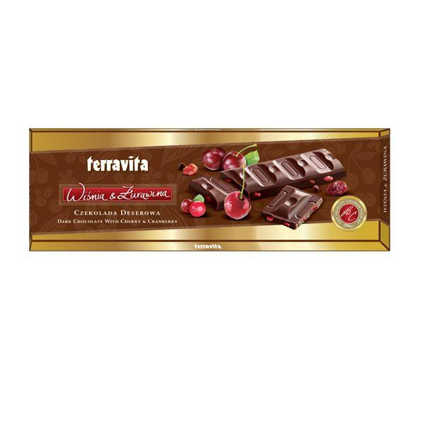 Pomysły na prezent z okazji Dnia Babci i Dziadka: czekolada wiśniowo-żurawinowa, Terravita