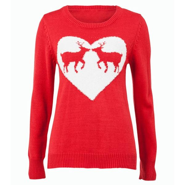 Czerwony sweter F&F