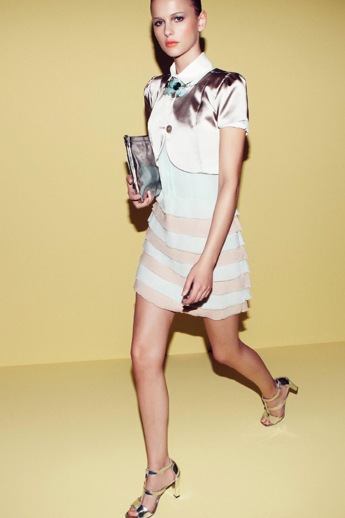 pastelowa sukienka Patrizia Pepe - lato 2013