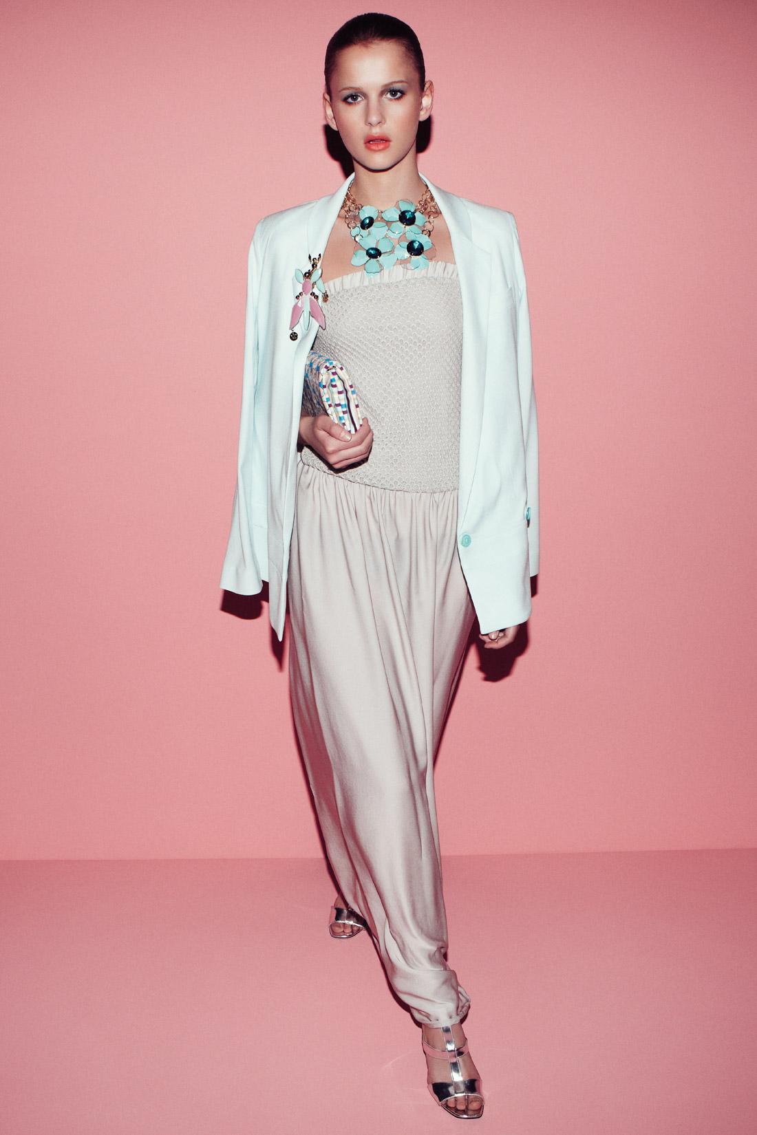 luźne spodnie Patrizia Pepe w kolorze beżowym - lato 2013