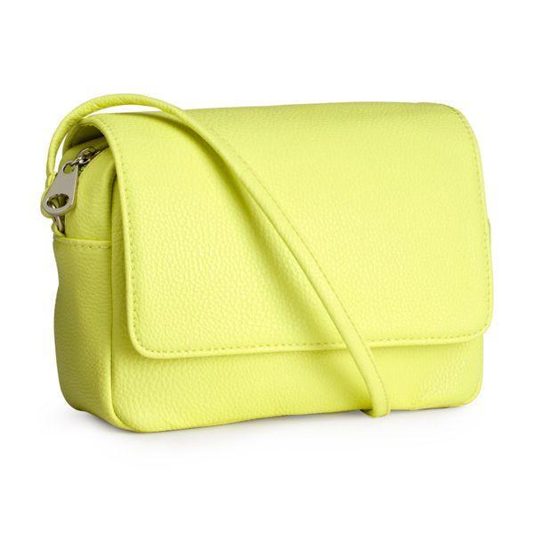 170c6496b6299 limonkowa torebka przez ramię, H&M, 59zł - Torebki przez ramię ...