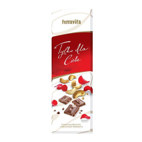 Nowości spożywcze, luty 2015: Terravita, czekolada mleczna z orzechami nerkowca