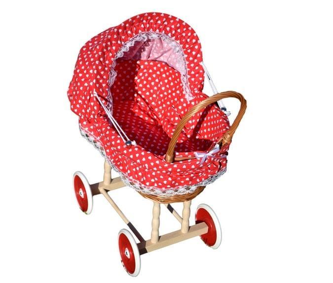 wózek dla lali wiklinowy