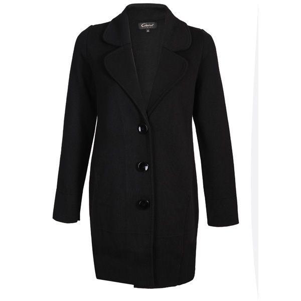 Czarny płaszcz Caterina, cena