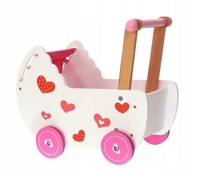 wózek dla lali chodzik drewniany
