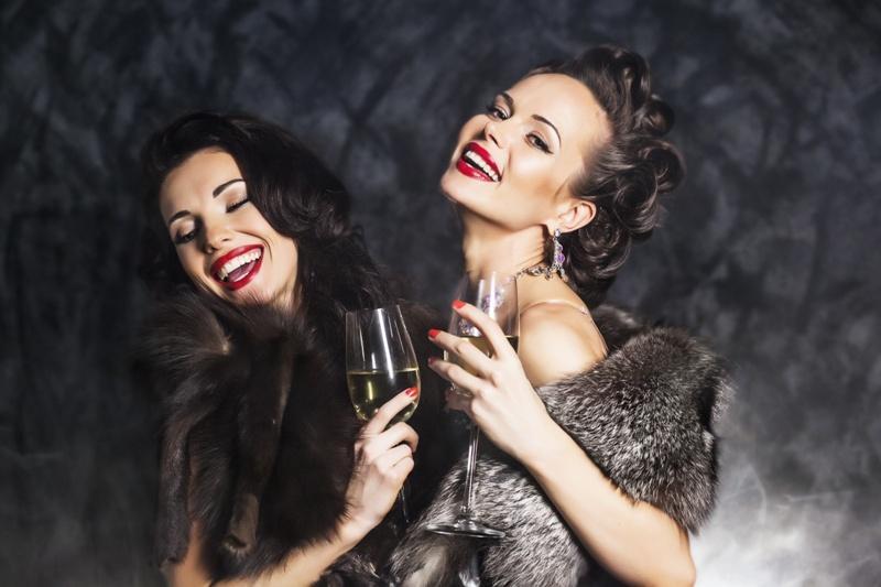 kobieta, impreza, sylwester, nowy rok, moda
