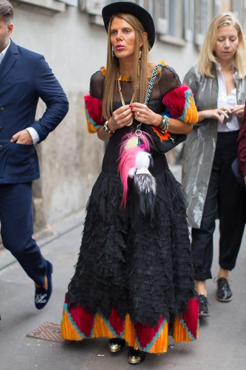 Anna Dello Russo podczas tygodnia mody