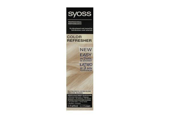 Pianka do włosów odświeżająca kolor, dla chłodnych odcieni blond, Color Refresher, Syoss, cena: ok. 15 zł.