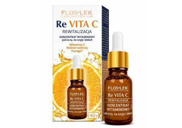 Koncentrat witaminowy pod oczy, na szyję i dekolt RE VITA C, FLOSLEK, cena 29,99 zł