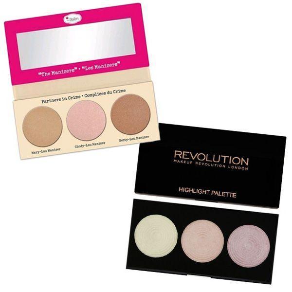 Zestaw do makijażu The Manizer Sisters The Balm vs. Rozświetlacze Highlighter Palette Highlight Makeup Revolution
