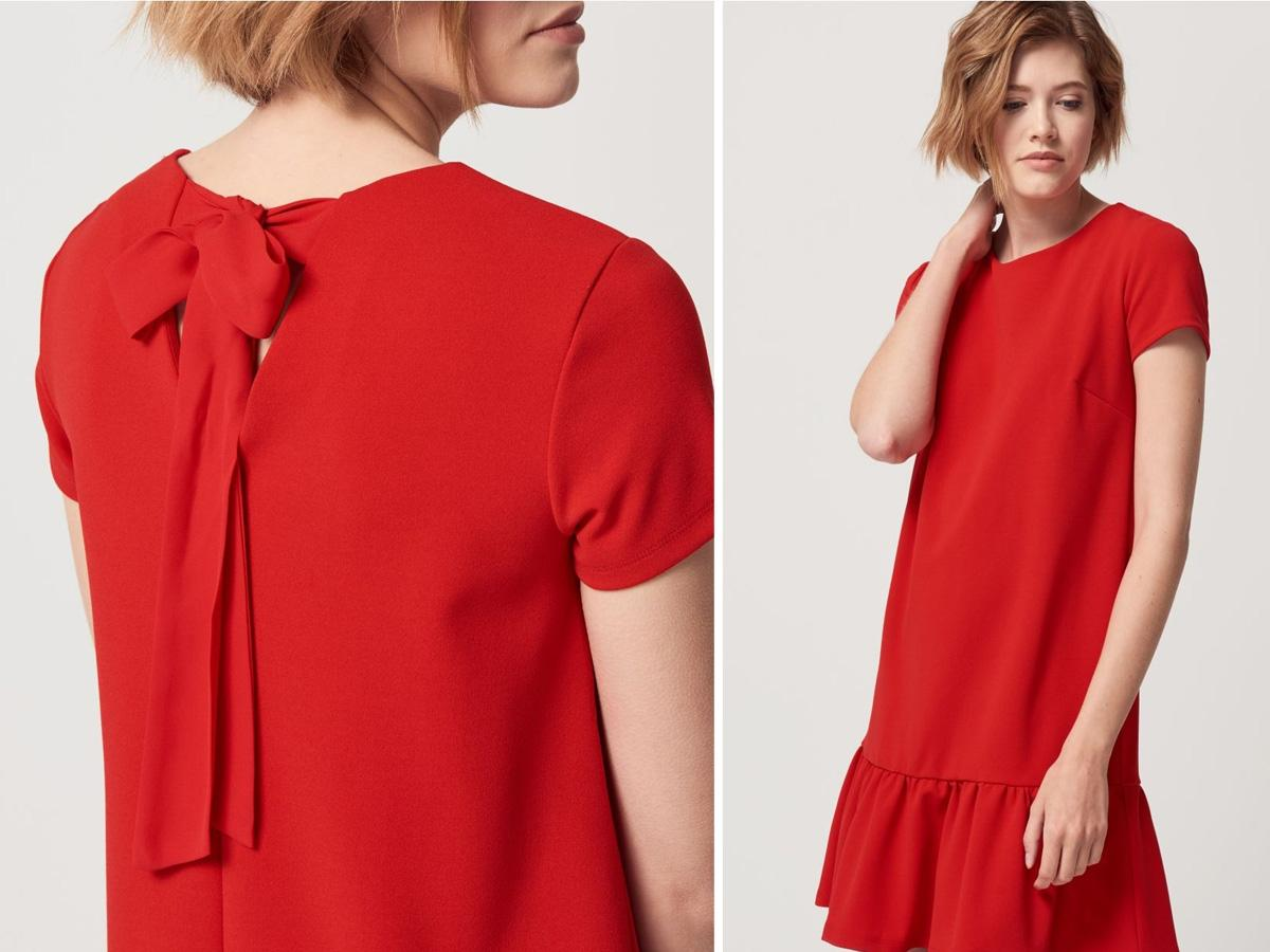 91094de54aa4f Czerwona sukienka Mohito, cena z ok. 69,99 zł na ok. 49,99 zł ...