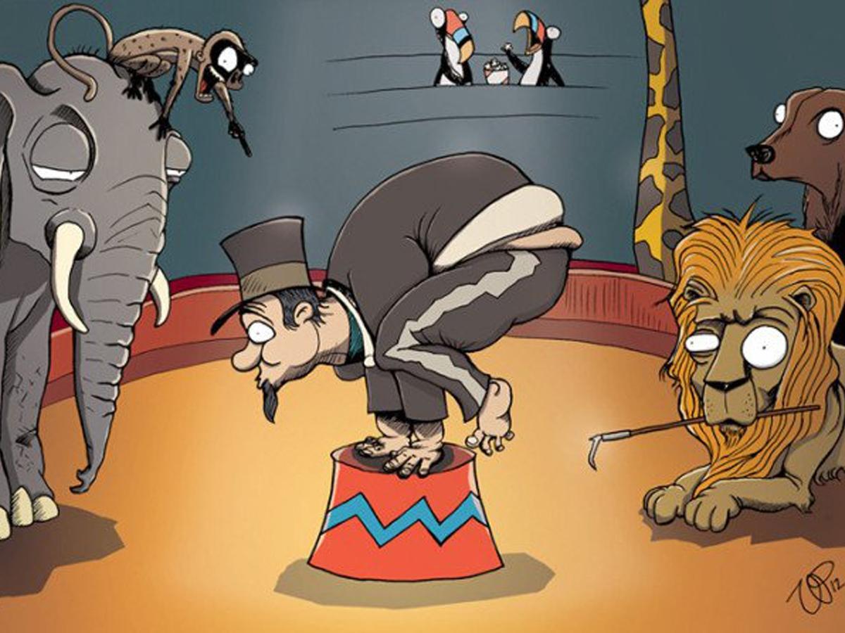 A gdyby tak to człowiek występował w cyrku? Te ilustracje pokazują, jacy jesteśmy okrutni wobec zwierząt