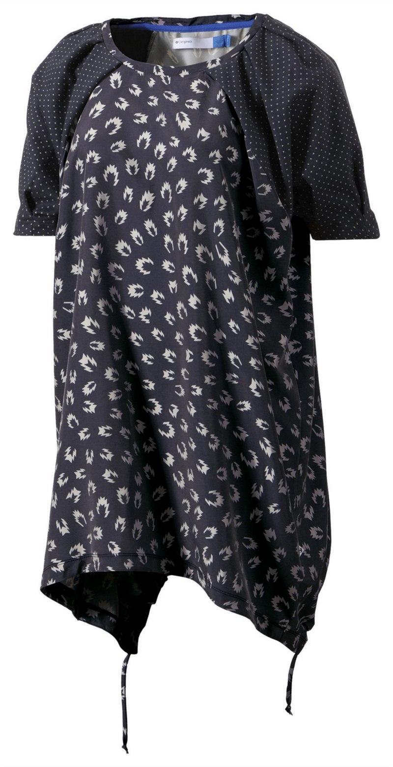 bluzka Adidas we wzorki w kolorze czarnym - kolekcja wiosenno-letnia