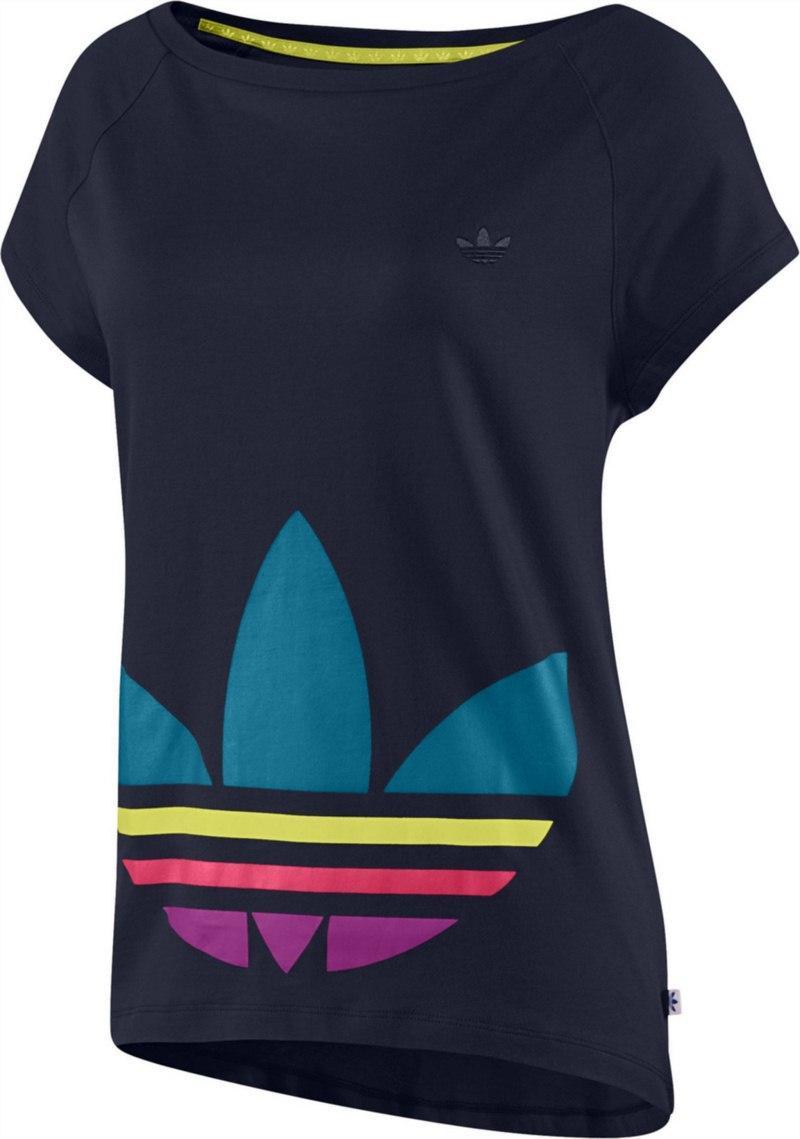 top Adidas w kolorze granatowym - kolekcja wiosenno-letnia