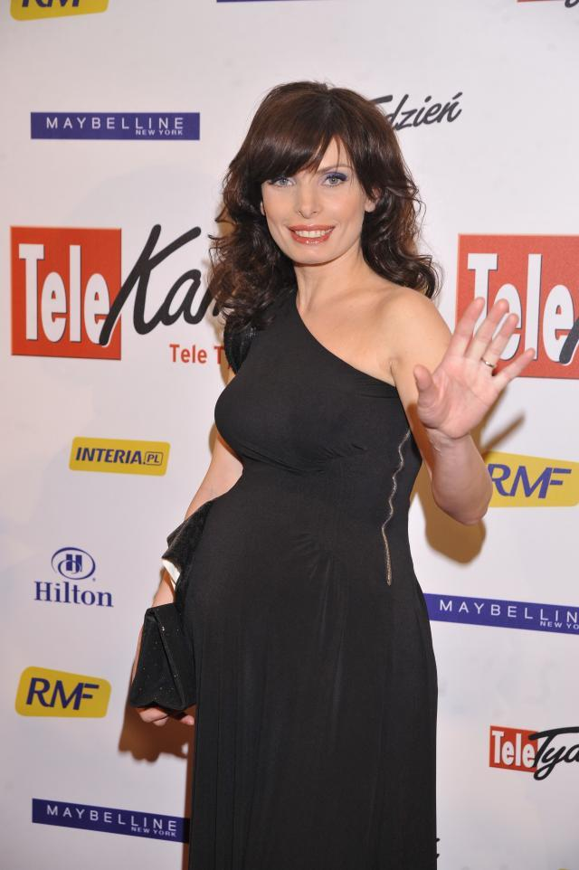 Agnieszka Dygant na rozdaniu Telekamer 2010