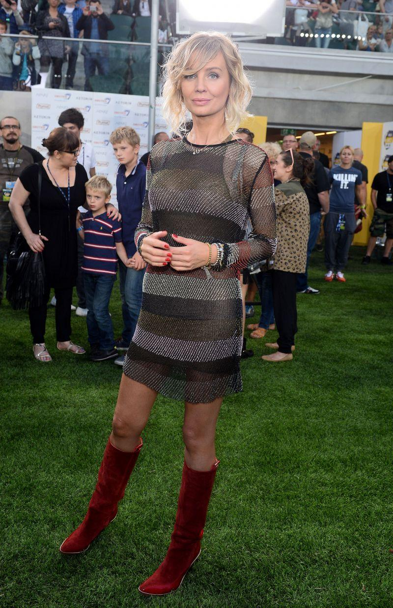 Agnieszka Szulim w sukience H&M Studio