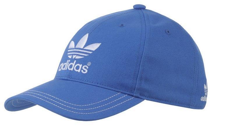 czapka z daszkiem Adidas w kolorze niebieskim - kolekcja wiosenno-letnia