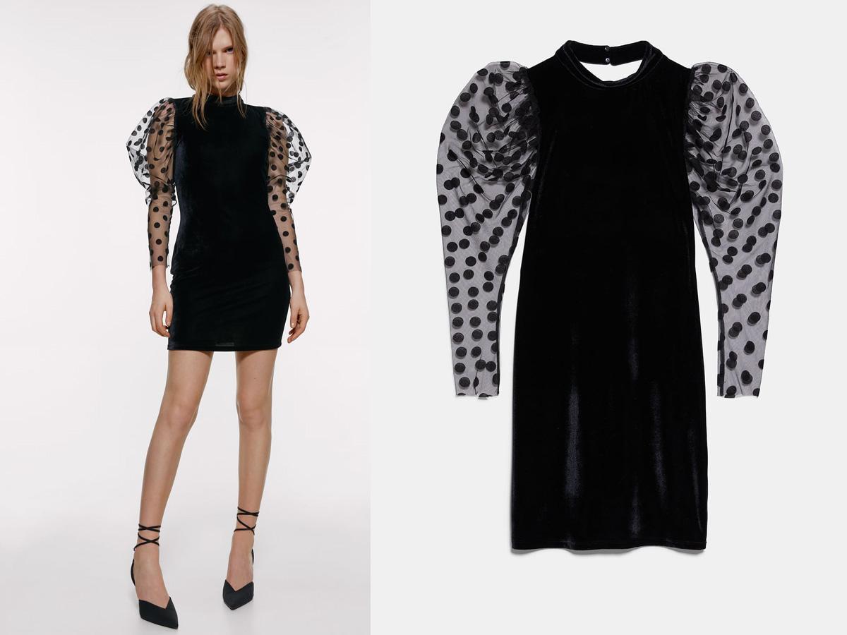 aksamitna sukienka Zara