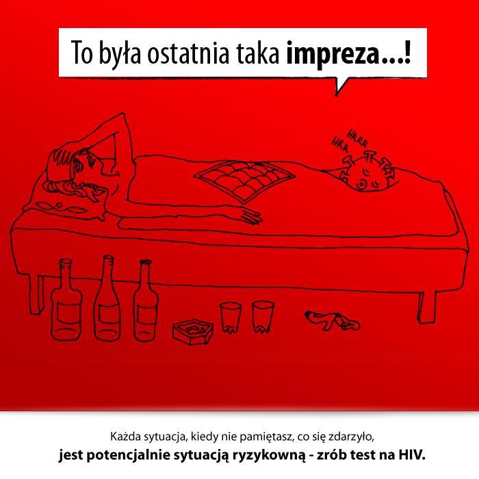 Wykonanie testu na HIV