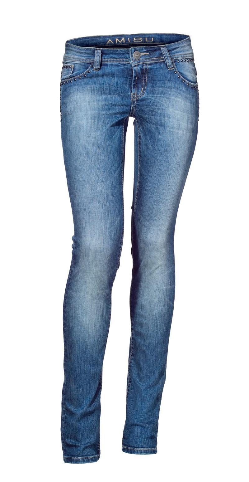 niebieskie spodnie New Yorker dżinsowe - kolekcja wiosenna